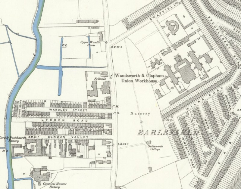 Earlsfield, Ordinance Survey Map, 1894, Reproduced with the permission of the National Library of Scotland