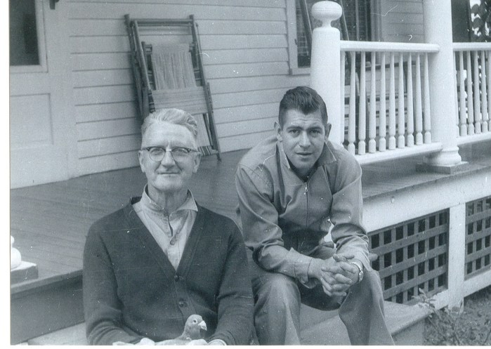 Edward Lincoln Hayes with his son-in-law George H House