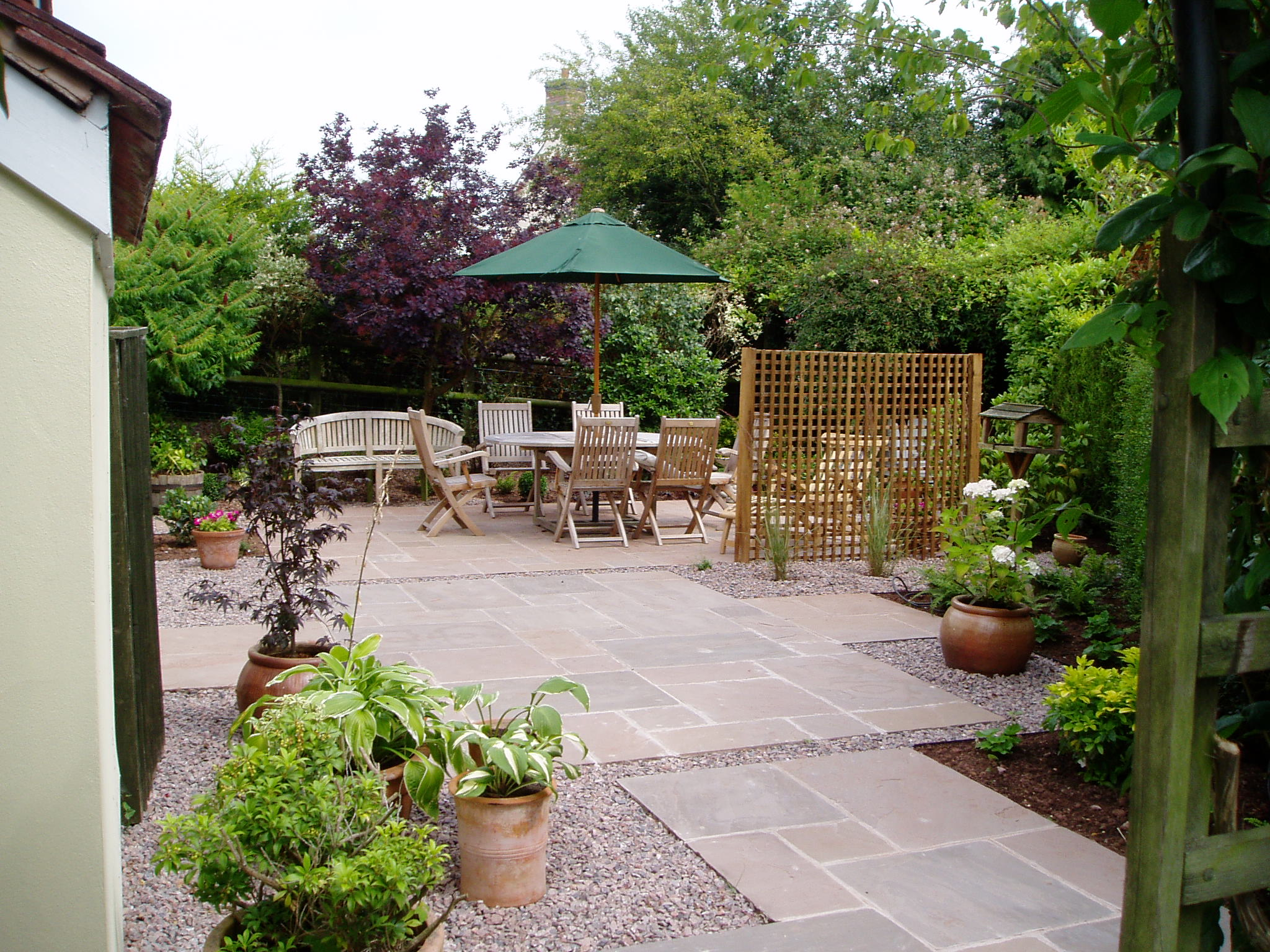 Country Courtyard Garden Design Ideas
