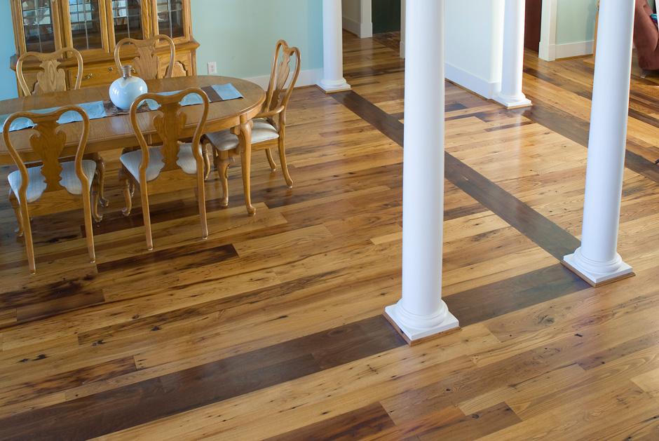 Antique  Reclaimed Wormy Chestnut Hardwood Flooring