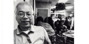 Vanessa's father in his Chinese Canadian Restaurant in New Glasgow, Nova Scotia