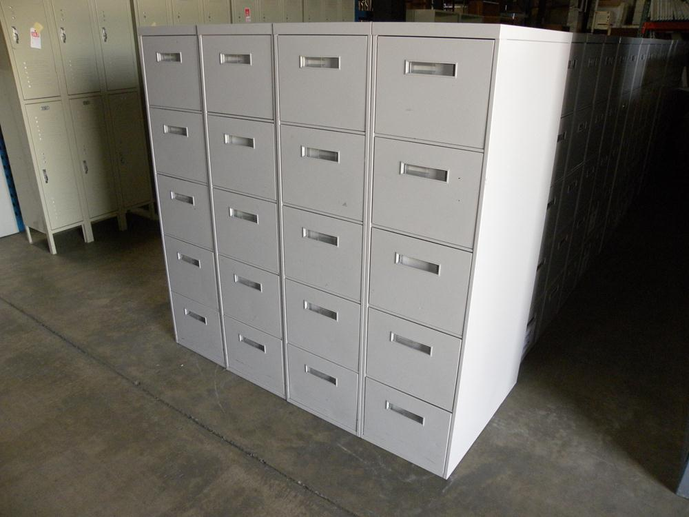 Used 800 Series 5 Drawer Letter Size Vertical File Cabinet