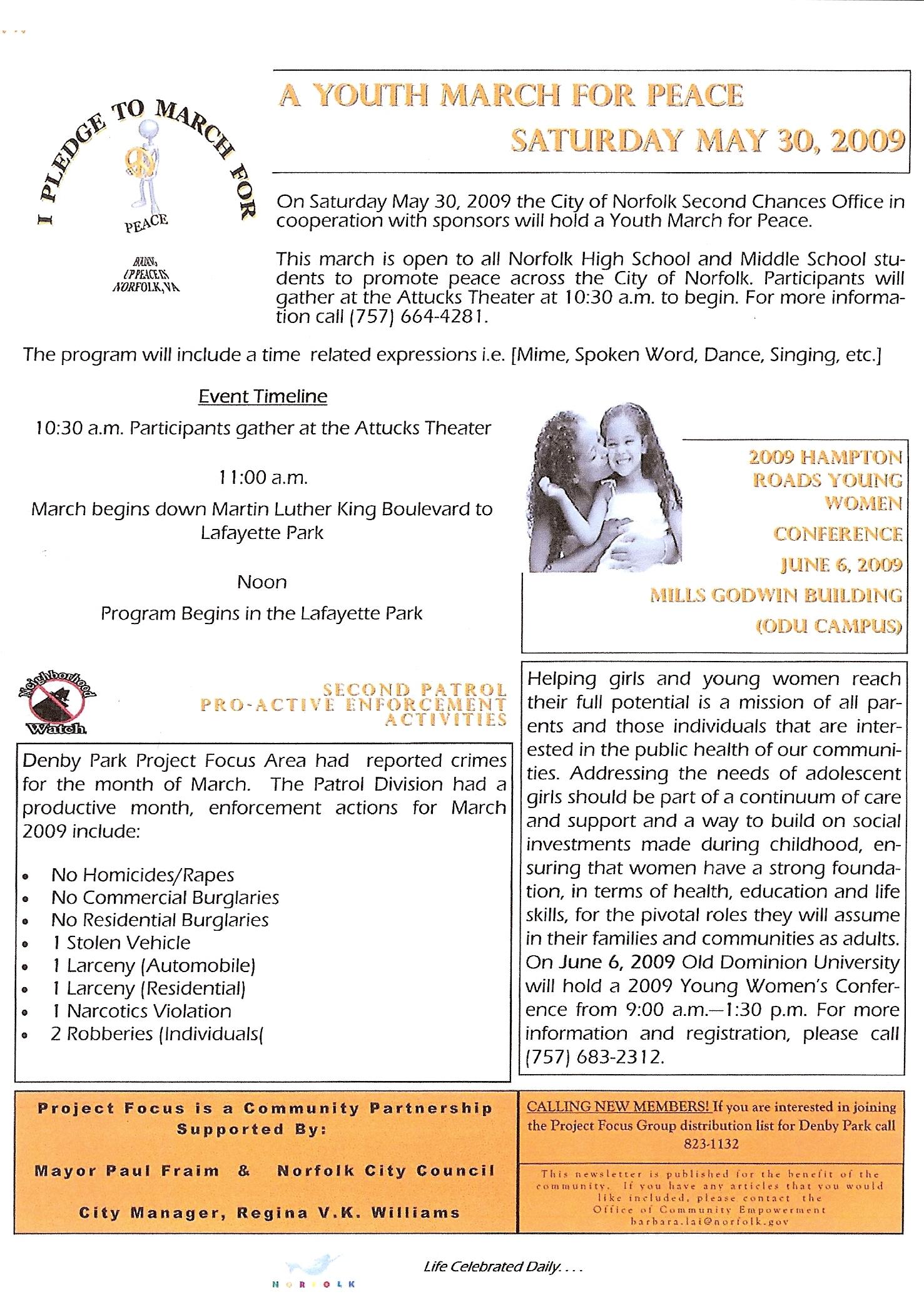 Denby Park Project Focus Newletter Page 2