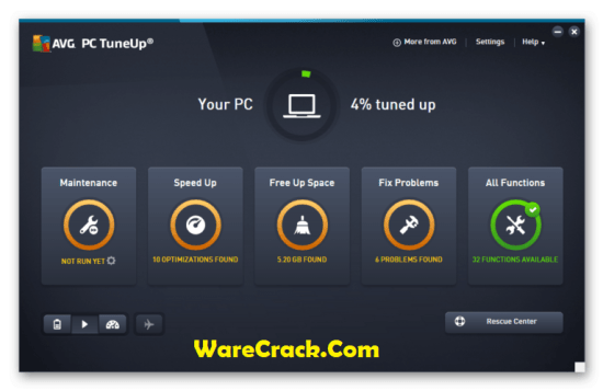 AVG TuneUp Utilities 2018 Crack