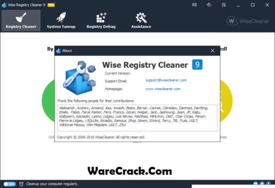 Wise Registry Cleaner Pro Serial Key