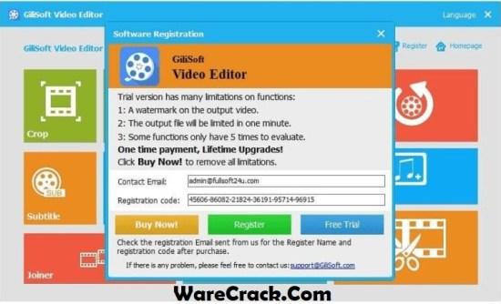GiliSoft Video Editor Registration Code