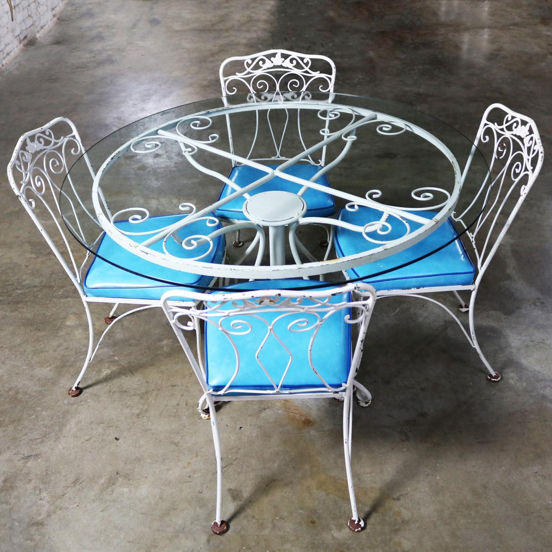 salterini style wrought iron patio set