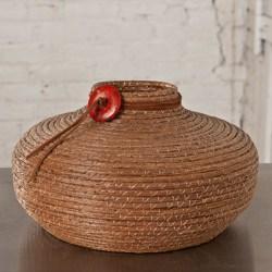 """The Cowboy"" Hand Woven Pine Needle Basket"