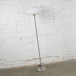 Mid Century Modern Mushroom Floor Lamp in Chrome by The Laurel Lamp Company