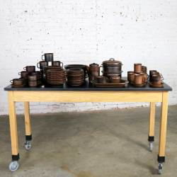 83 Piece Set of Vintage Mid-Century Ruska Stoneware by Ulla Procope for Arabia Finland