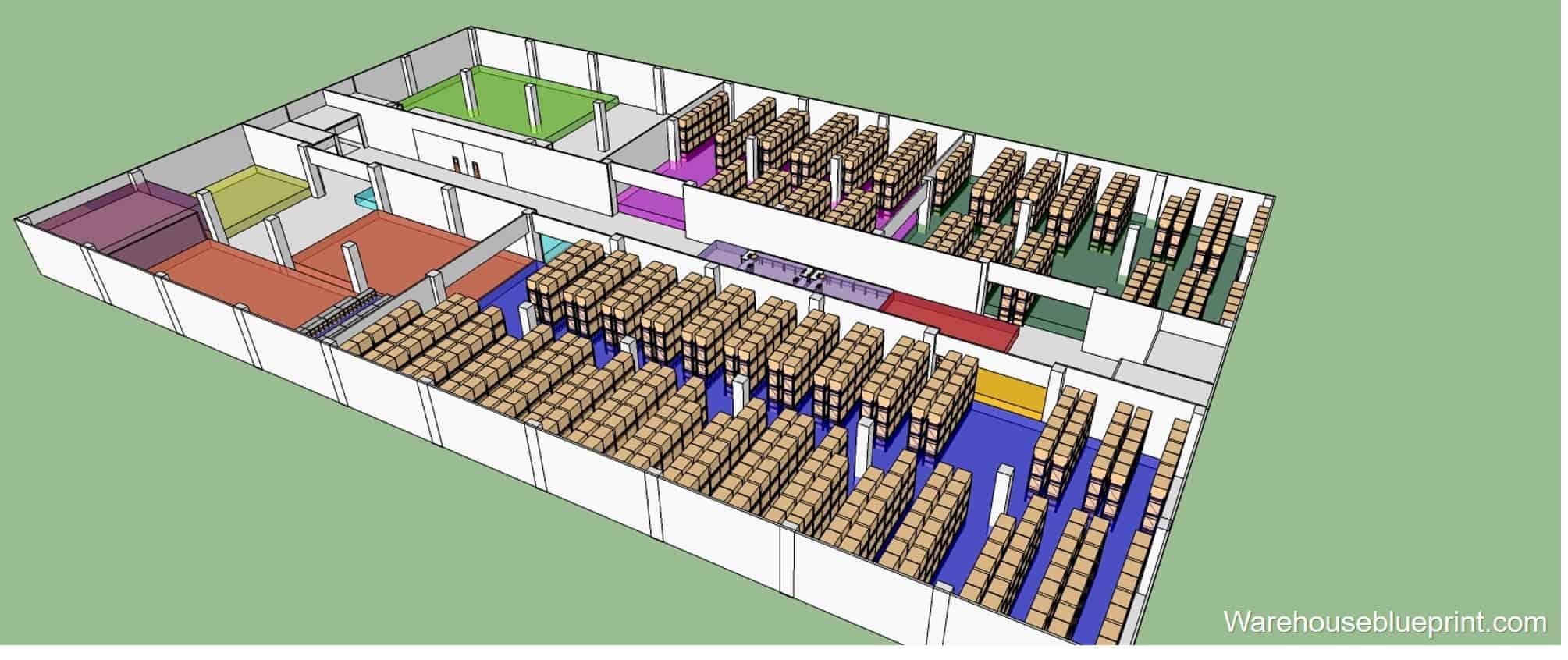 Warehouse Layout Plan Design