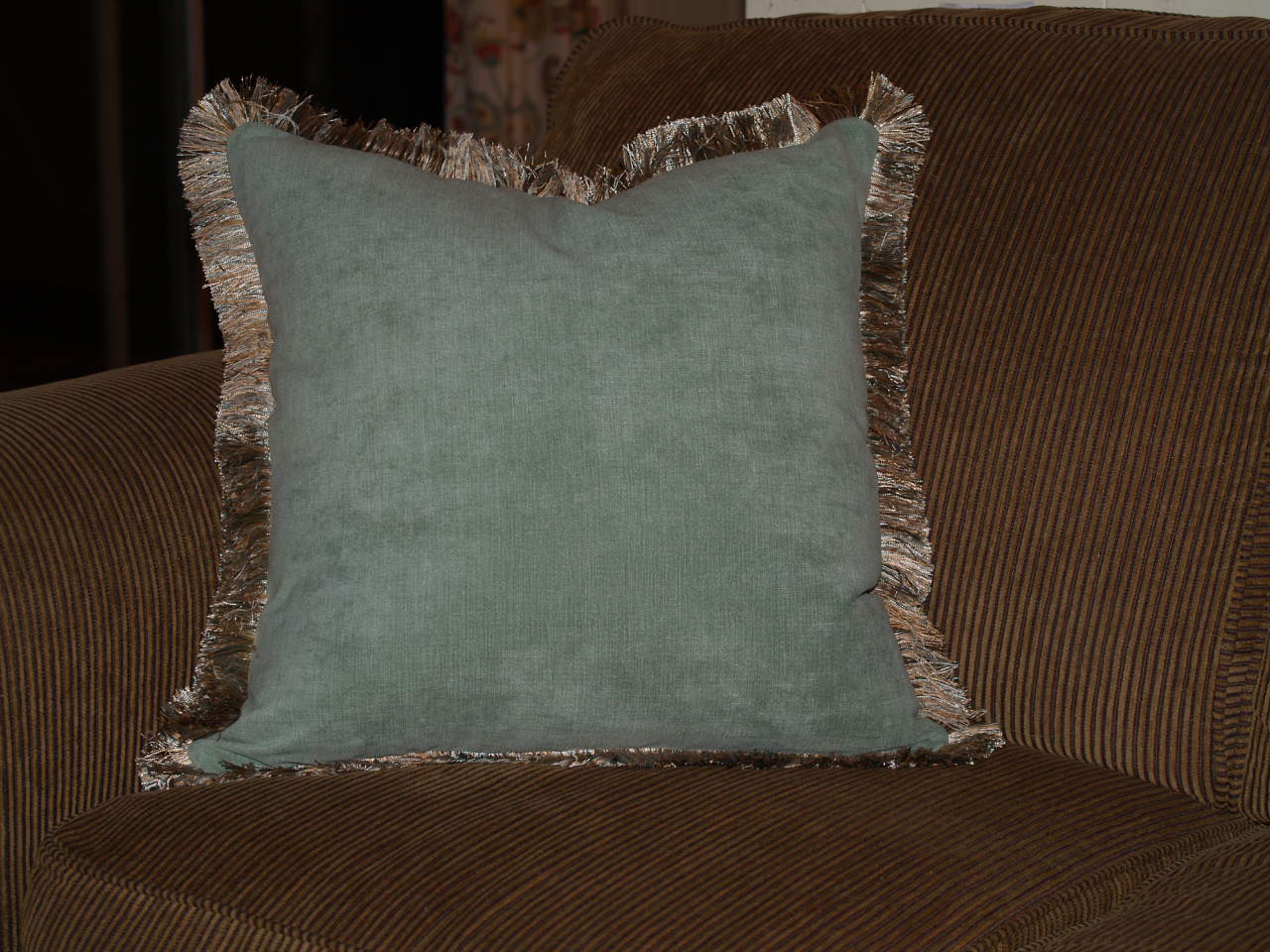 Lets Make a Pillow with Brushed Fringe  Best Fabric
