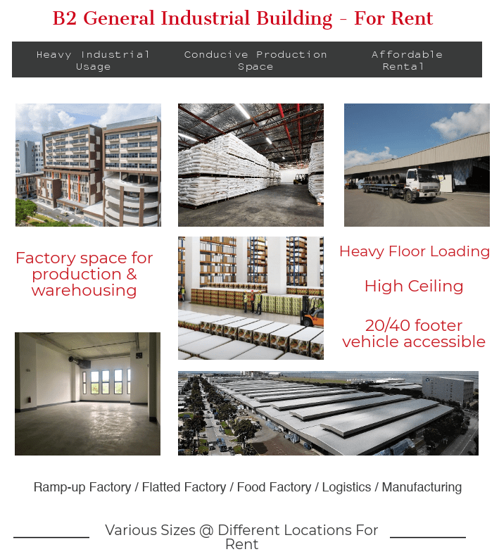 B2 Industrial Factory Warehouse Space For Rent