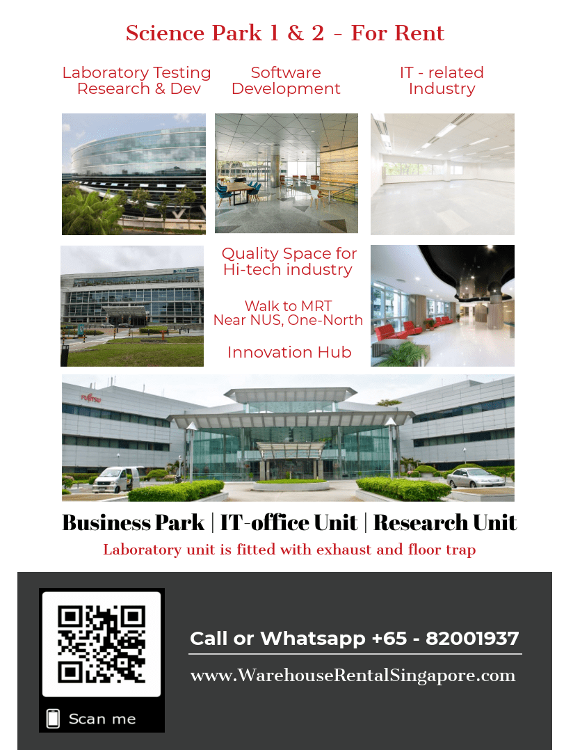 Science Park 1 and Science Park 2 For rent