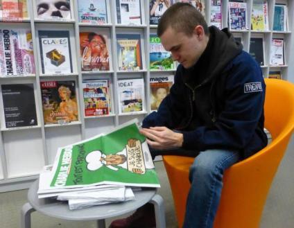 Bibliotheek Angers. Foto www.courrierdelouest.fr