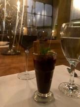 Chocolate dessert with Luz de Luna.