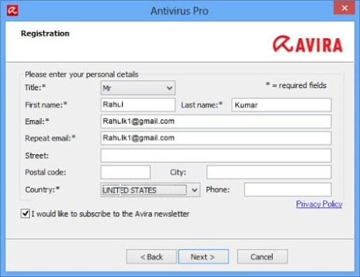 Avira Antivirus Activation Code