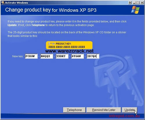 windows xp pro sp3 free with product key