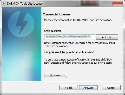 daemon tools activation serial number