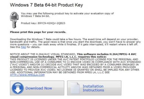 Windows 7 Product key 64 bit for Windows Home Premium & ultimate free Downlaod