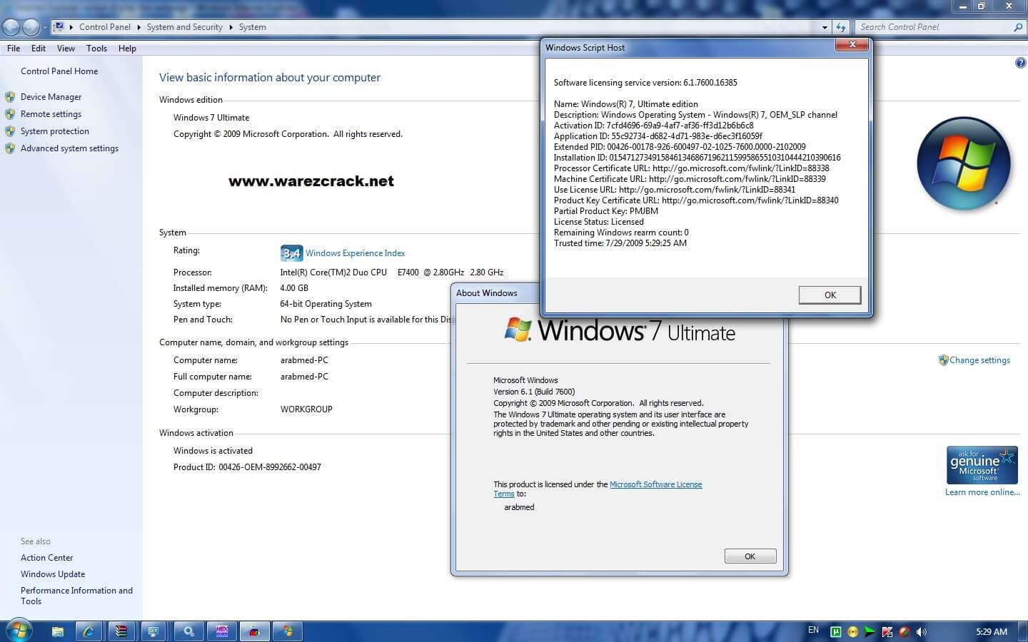 windows 7 ultimate genuine activation key