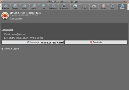 ZD Soft Screen Recorder License Key