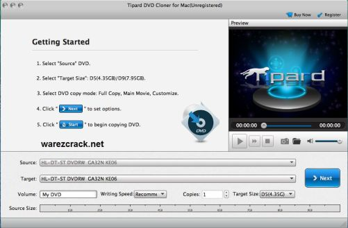 tipard dvd cloner 6 Crack
