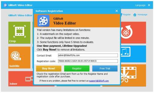 Gilisoft Video Editor Registration Code