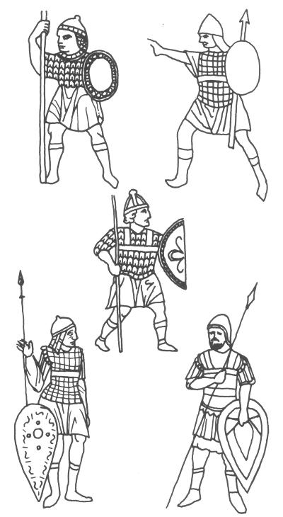 Illustrations referenced by 'Byzantine Armies 886-1118' by