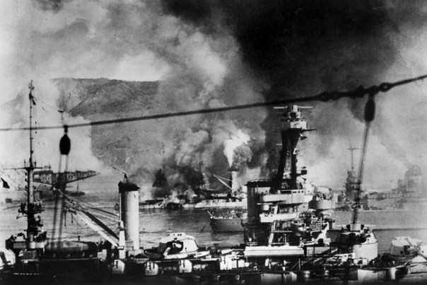 Image result for 1940 –In order to stop the ships from falling into German hands the French fleet is bombarded by the British fleet causing the loss of three battleships, 1,200 sailors die.
