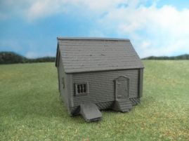 15mm ACW Buildings: TRF311 House with Wood Siding and Root Cellar Door