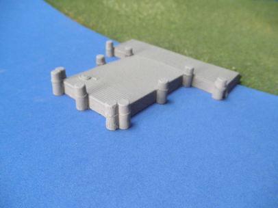 15mm ACW Buildings: TRF338 River Dock
