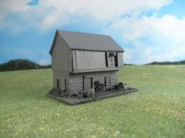 15mm English / European Buildings: TRF360 Stone and Timber Mill with Water Wheel