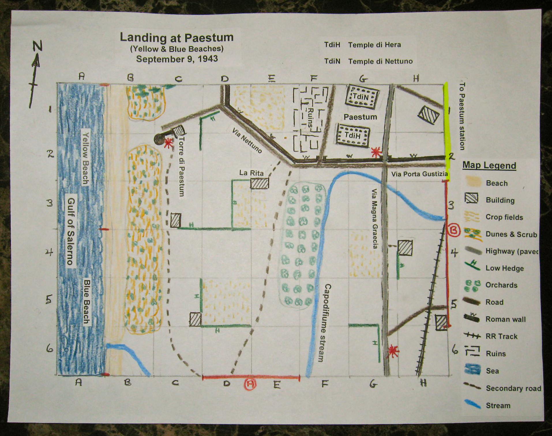 hight resolution of scenario paestum map