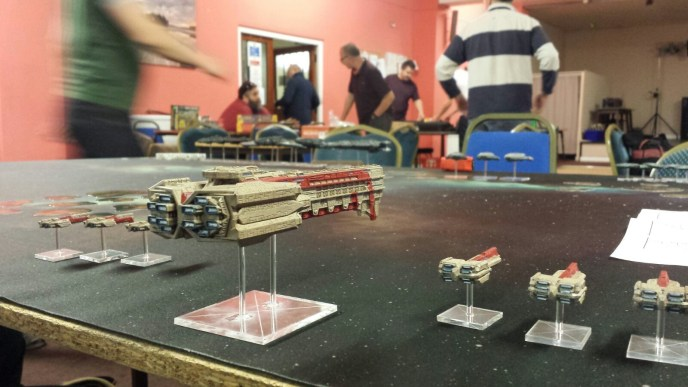 News from the Front #2 – Firestorm Armada, 1200pts Dindrenzi versus Terrans