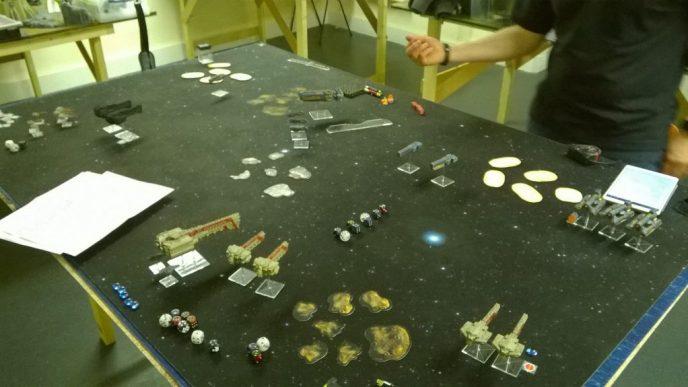 News from the Front #4 – Firestorm Armada, 1000pts Dindrenzi versus Sorylians