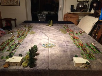 The Field of Battle. Tigris at far side, woods and villages near side.