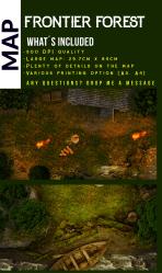 Frontier Forest Wilderness Battlemap Lion Banner Games DriveThruRPG com
