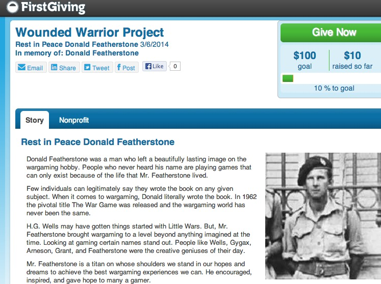 Wounded Warrior for Donald Featherstone