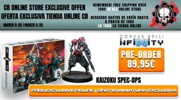 Con la pre-venta del Army Pack JSA podremos obtener una miniatura exclusiva de Kaizou Spec-Ops