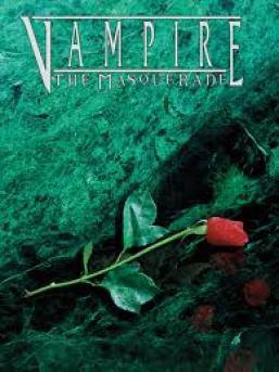 Portada de la tercera edición del juego de rol Vampire: The Masquerade
