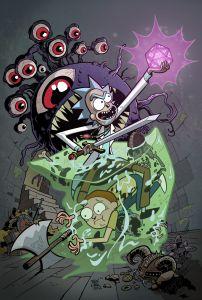 Rick y Morty con monstruos clásicos de Dungeons and Dragons