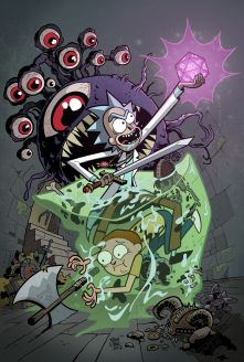 Rick y Morty con monstruos clásicos de Dungeons and Dragons