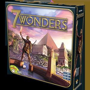 Caja del Juego de cartas Seven Wonders editado por Asmodee Group