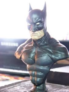 Busto de Batman. Escultor: Isaac Gutiérrez