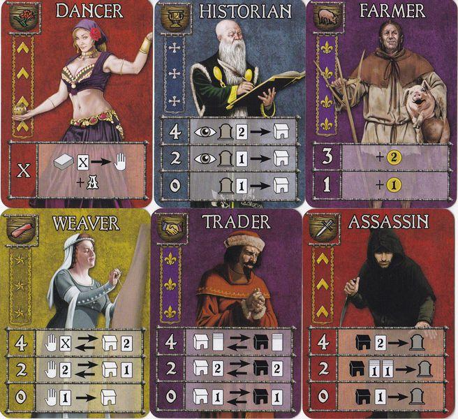 Guildhall diferentes tipos de cartas