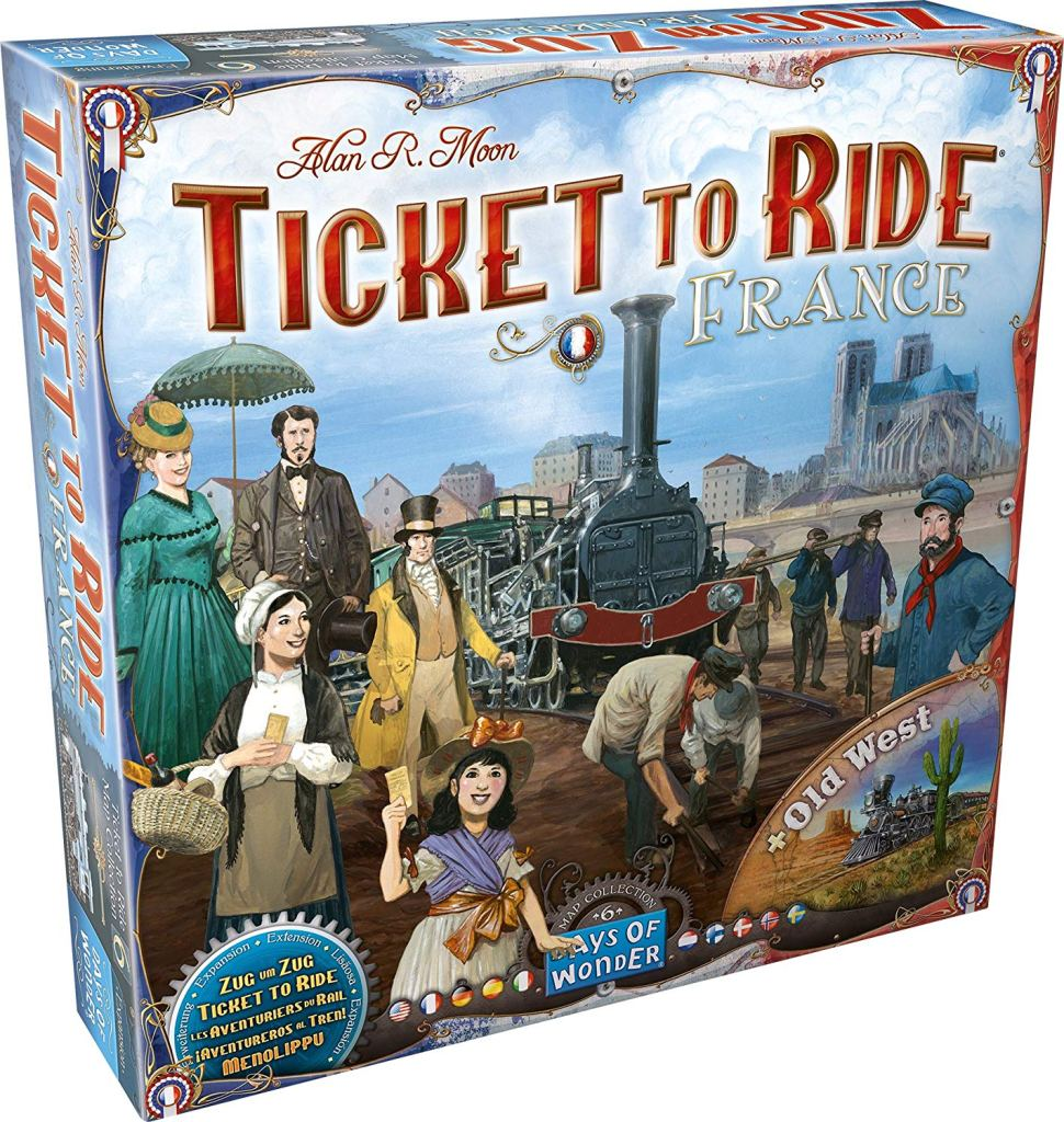 Ticket to Ride France and Old West Map Collection
