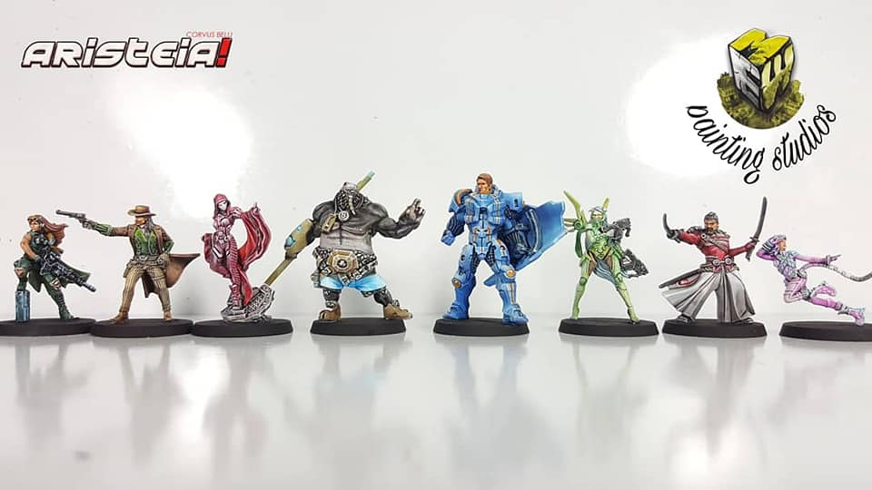 Aristeia!'s base box miniatures painted by Miniaturas Estadio War Game