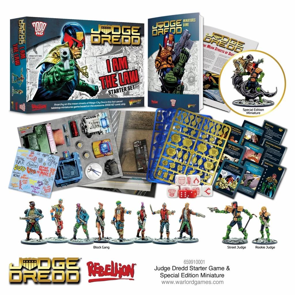 Judge dredd juego de miniaturas caja de inicio