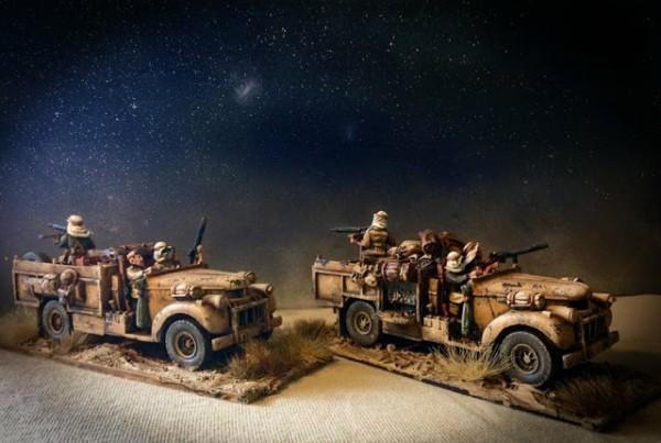 Long Range Desert Group haciendo reconocimiento y patrullaje nocturno